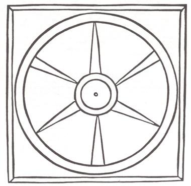 Meditationsbild Radmotiv