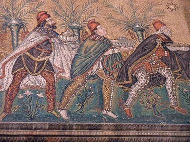 Die Drei Weisen Ravenna 6. Jahrhundert