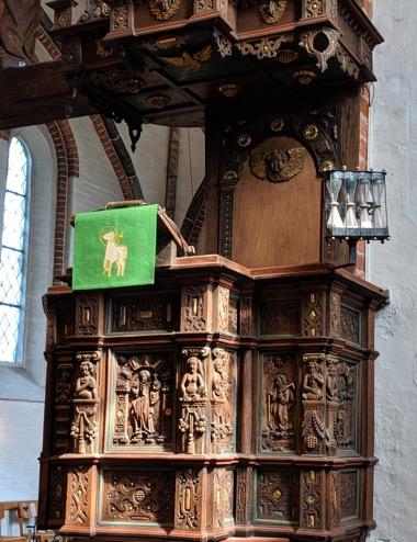 Kanzel in der St. Johannis Kirche in Krummesse © Sigrid Grabmeier